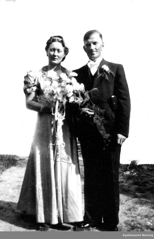Brudeparet Ingeborg Einvik Kværnø og Henrik Kvernø