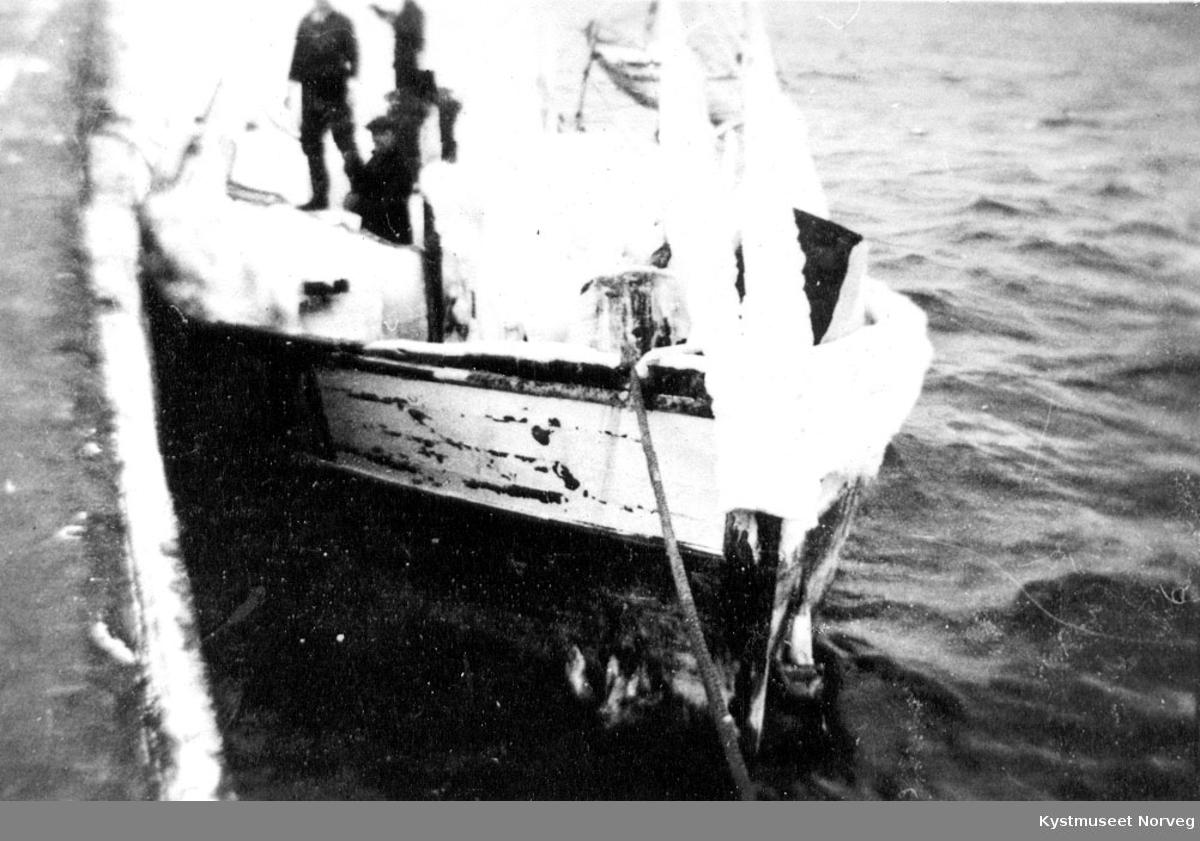 Forenden av en båt.