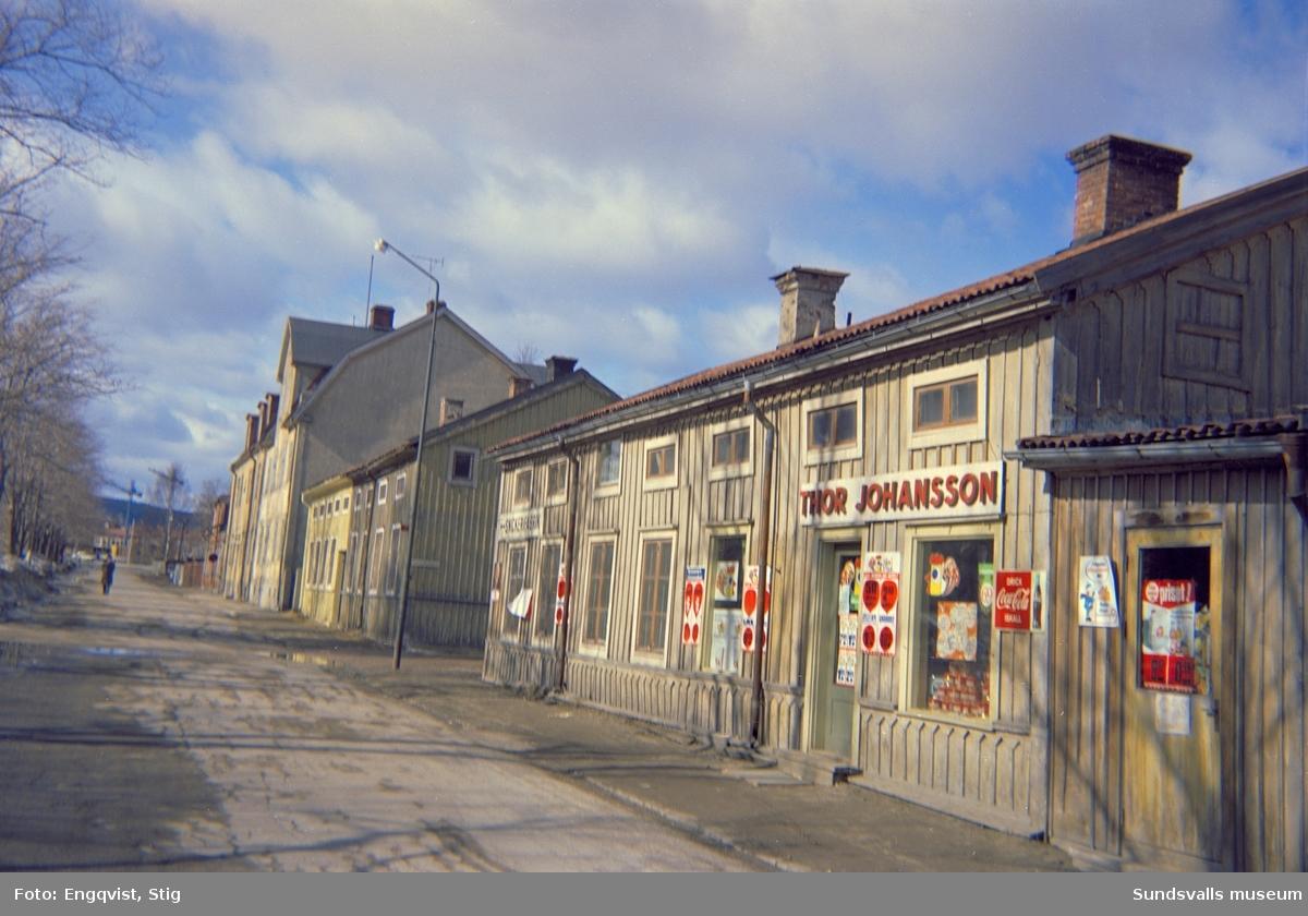 Skepparegatan 10, med Thor Johanssons livsmedelsbutik.