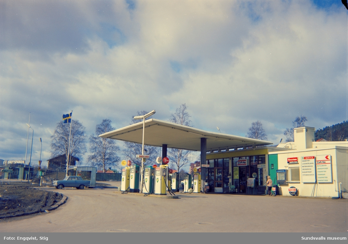 BP-macken på Norrmalmsgatan 6.