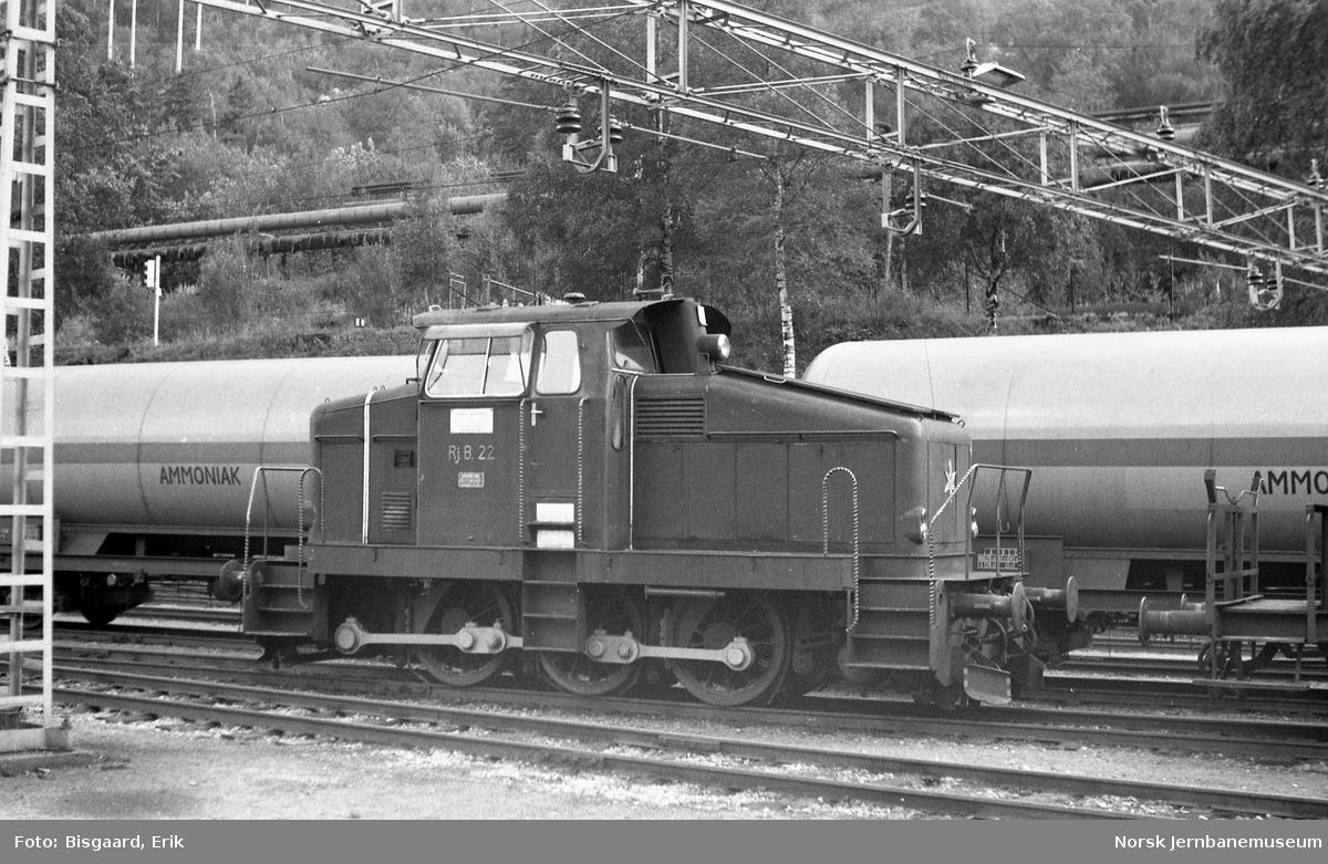 Rjukanbanens diesellokomotiv nr. 22 på Rjukan stasjon