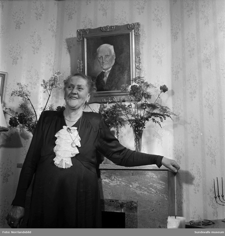 Fru Hanna Undin, 80 år.