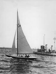 Från seglingarna utanför Sandhamn 11 juli 1928 om Guldpokale