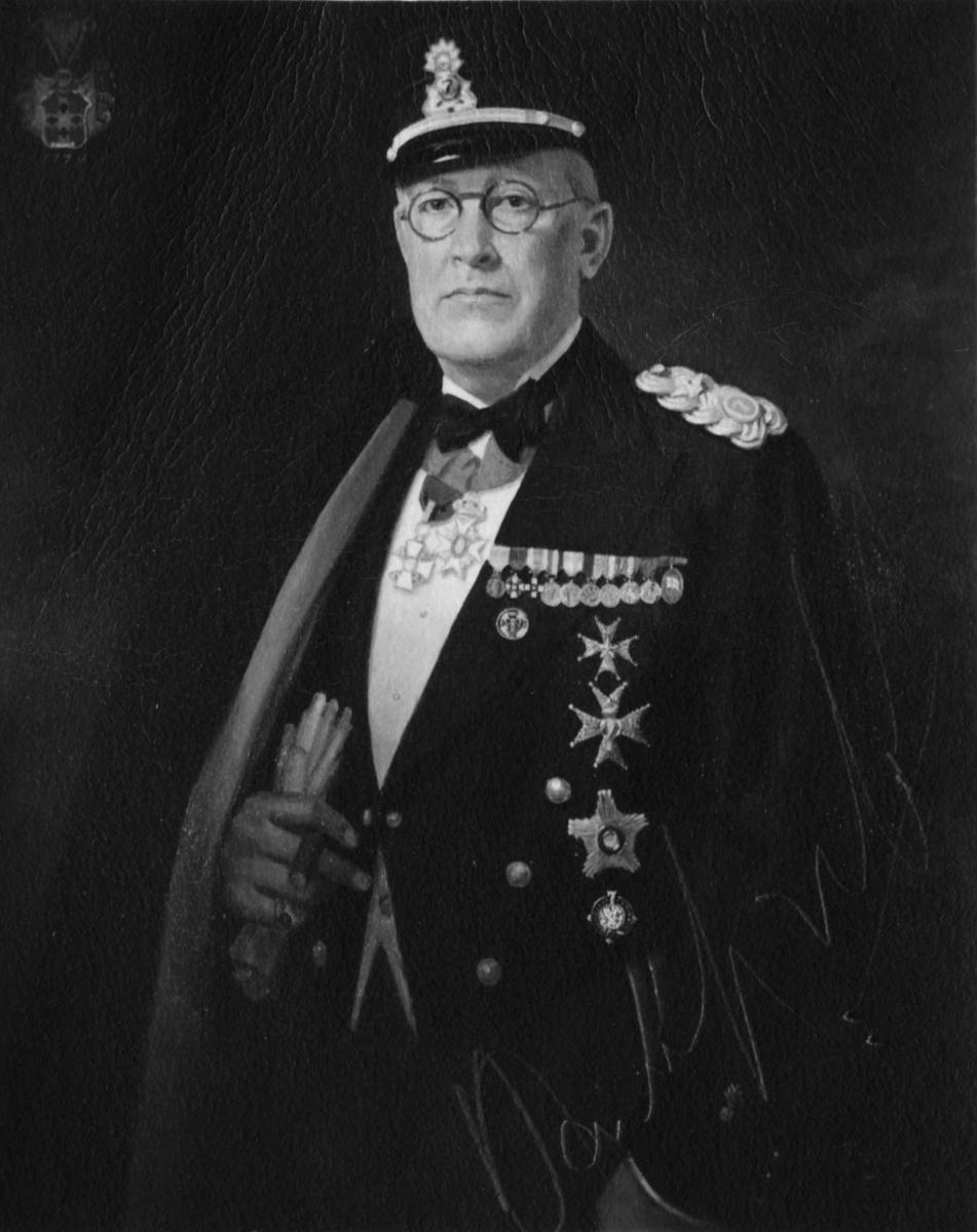 Hans Lagerlöf 1880-1952, medlem av KSSS från 1946. Fotografi av målning av okänd konstnär.