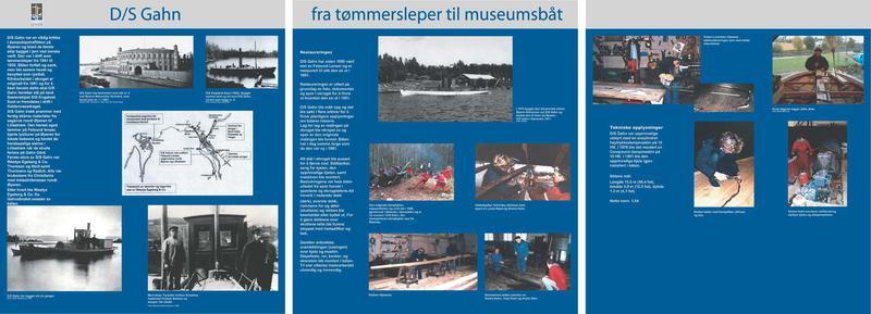 Foto av utstillingsplansje for slepebåten DS «Gahn» (Foto/Photo)