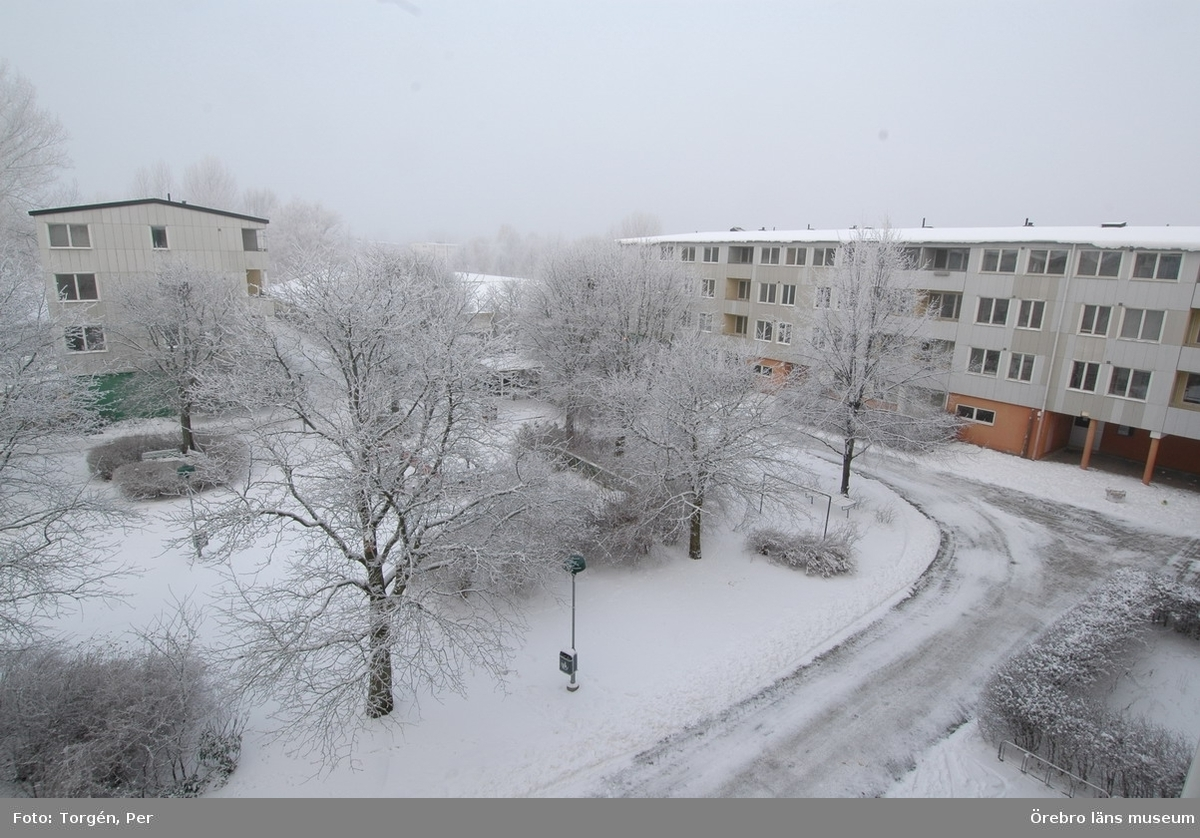 Dokumentation av bostadsområdet Markbacken i Örebro.Bostadshus, innergård, Lertagsgatan.Dnr: 2005.250.361