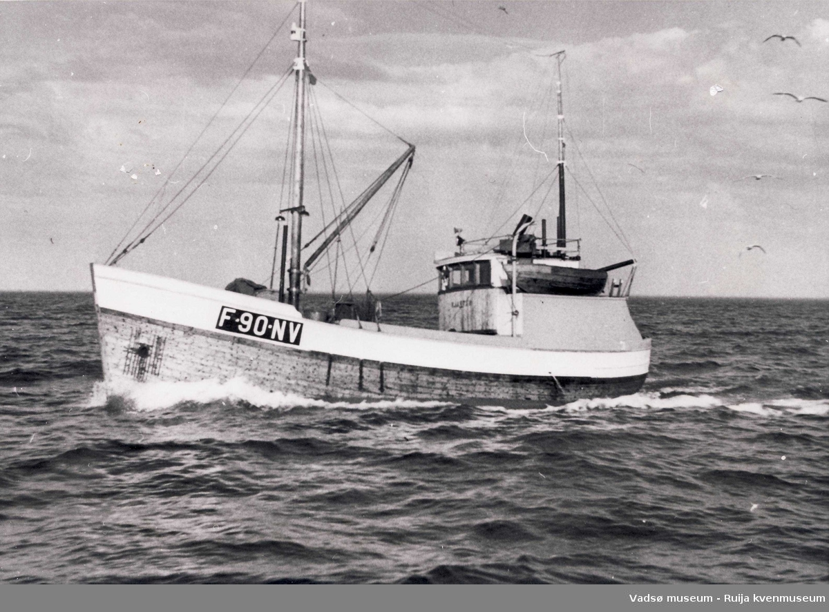 Båten Kjartan på sjøen 1959