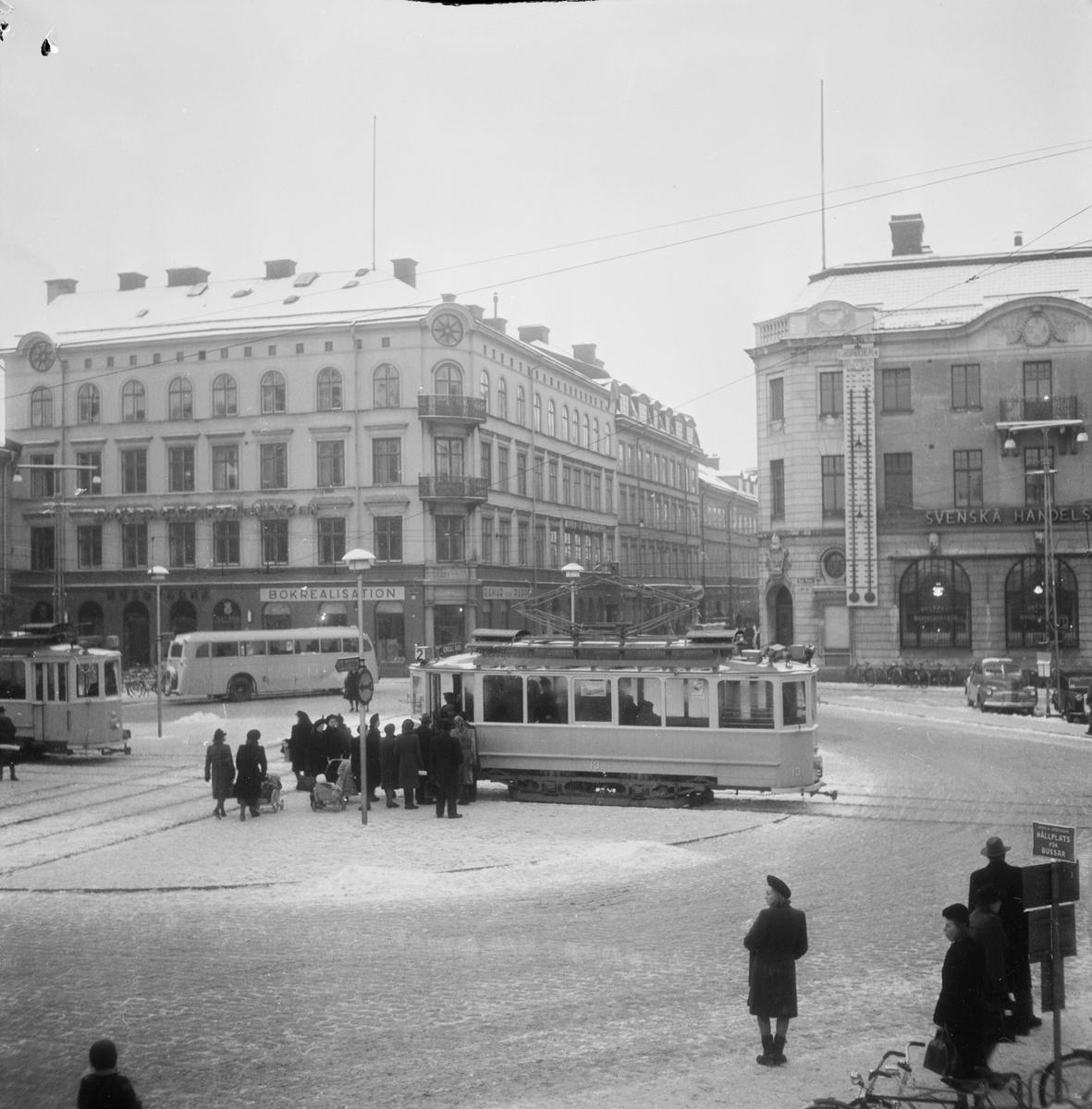Europahjälpen, barometer vid Stora torget, Uppsala, november 1947