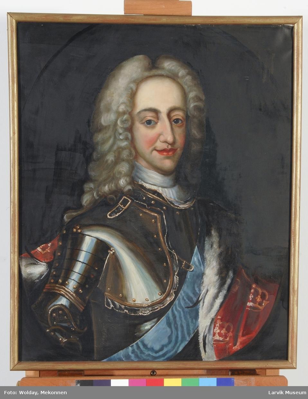 Portrett Christian VI i rustning