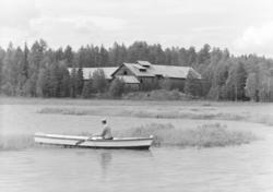 Løten Almenning. Rokosjøsaga (?), robåt, Rokosjøen