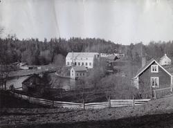 Mariebergs Yllefabrik, exteriör. Bild från tidskriften Hemme