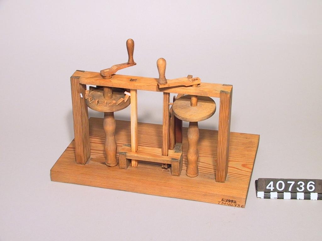 Modell ur Polhems mekaniska alfabetet, kopia.