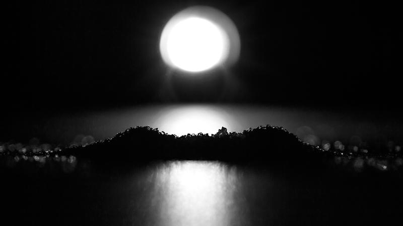 Hva er avbildet? Er det landskap i mørket? Er bare sukker - Dikt/foto av Linn Eriksson (Foto/Photo)