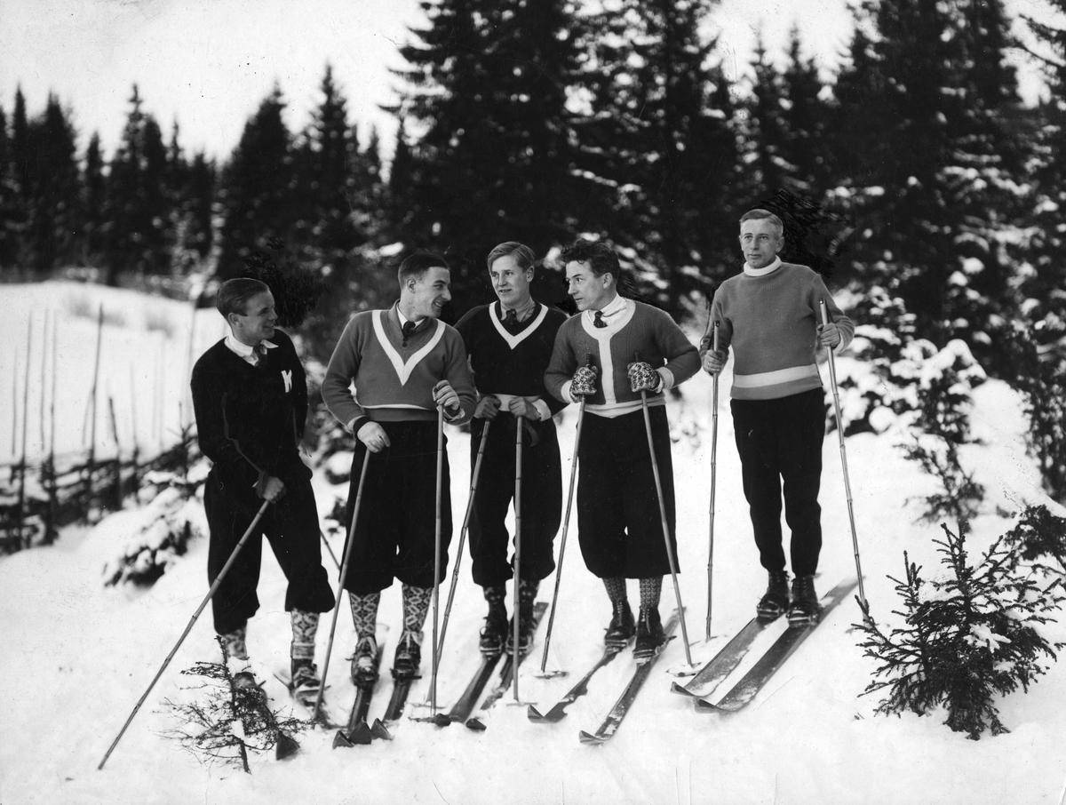 Five Kongsberg skiers