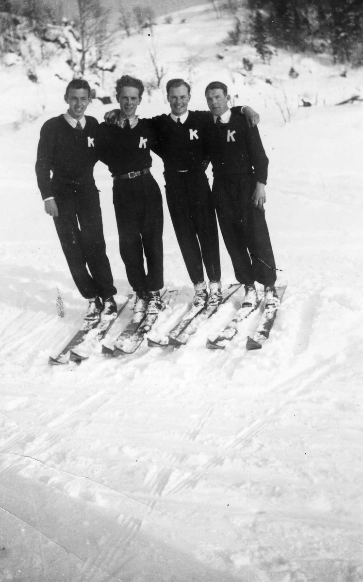 Four Kongsberg skiers