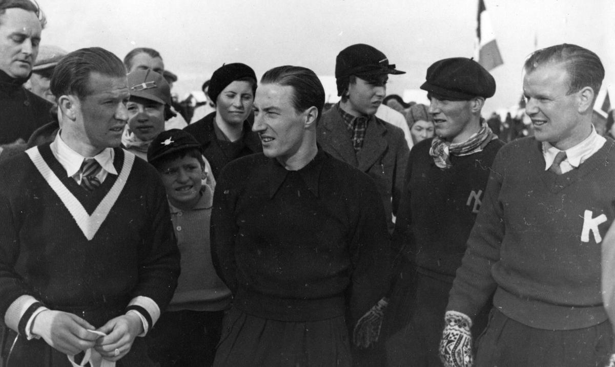 Norwegian skiers during OG in 1936