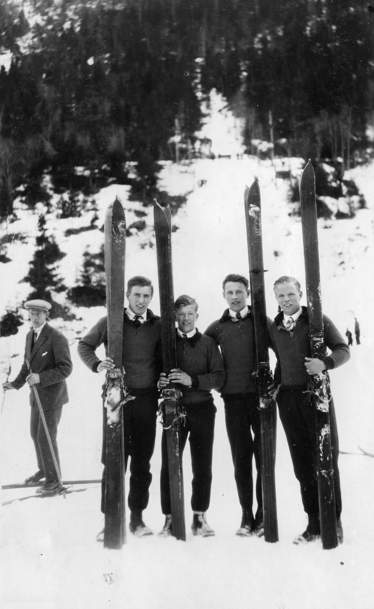 Young ski jumpers from Kongsberg in Telemark