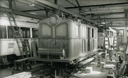 ASEA-lokomotivet som ble sprengt på Orkanger stasjon 31/10-4