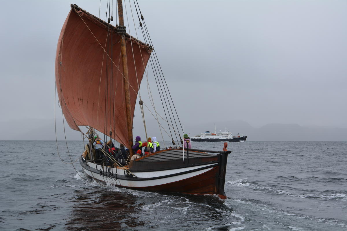 Åfjordsbåt. Lofotbåt (storfembøring), 48-60 ft.