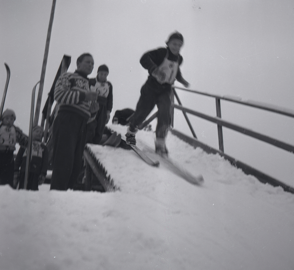 Young Kongsberg skiers training