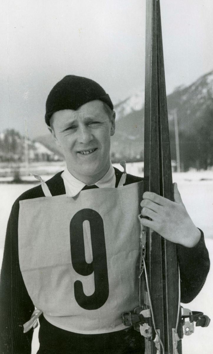 Norwegian athlete Kaare Valberg at Garmisch