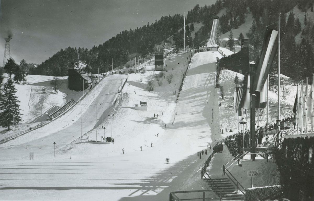 Ski jumping facilities at Garmisch