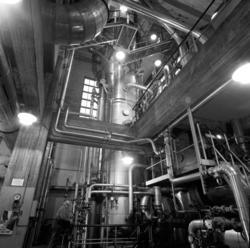 Bilder från sulfitfabriken i Fagervik, fotograferat för Kamy