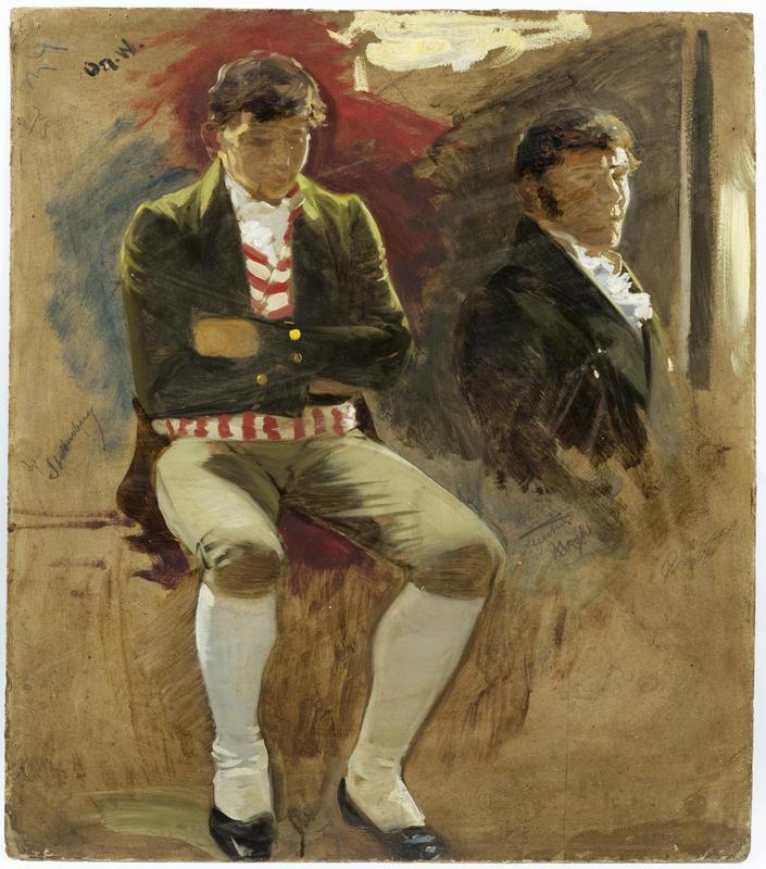 Portrett. To menn. Eidsvoll 1814. Oscar Wergeland (Foto/Photo)