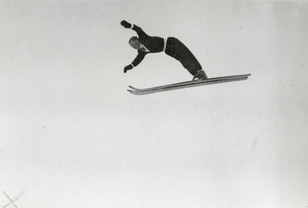 Athlete Sigmund Ruud in demonstration jump