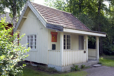 Posthus fra Svartdal i Telemark. Foto/Photo