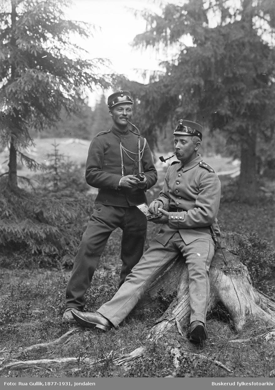 Korporal Lien og Bringsrud, ant. fra Kongsberg