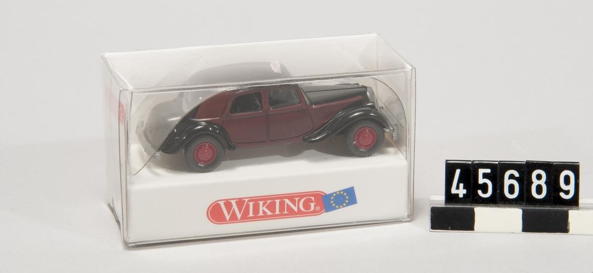 Modellbil, CitroÃ«n 15 SIX taxi, skala 1:87, tillverkare Wiking, tillv nr 800 02 i originalförpackning