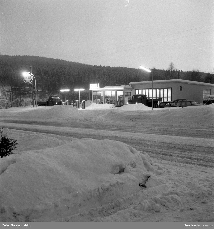 Shell bensinstation i Timrådalen.