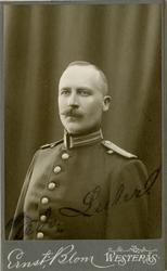 Porträtt av Edvard Mauritz Emanuel Luhr, löjtnant vid Västma