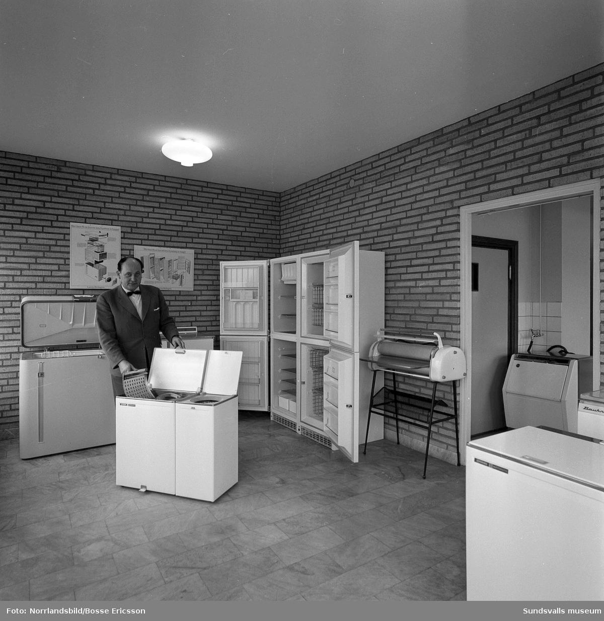 OGEA hushållsmaskiner, nyöppnad affär på Fridhemsgatan 80.