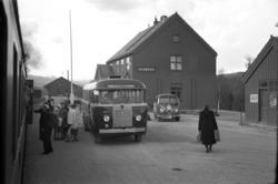 Ulsberg stasjon, hvor reisende stiger om til buss til Tynset