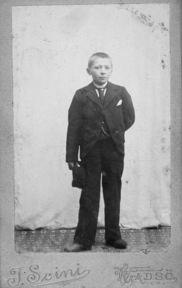 Visittkortportrett av en ung gutt.