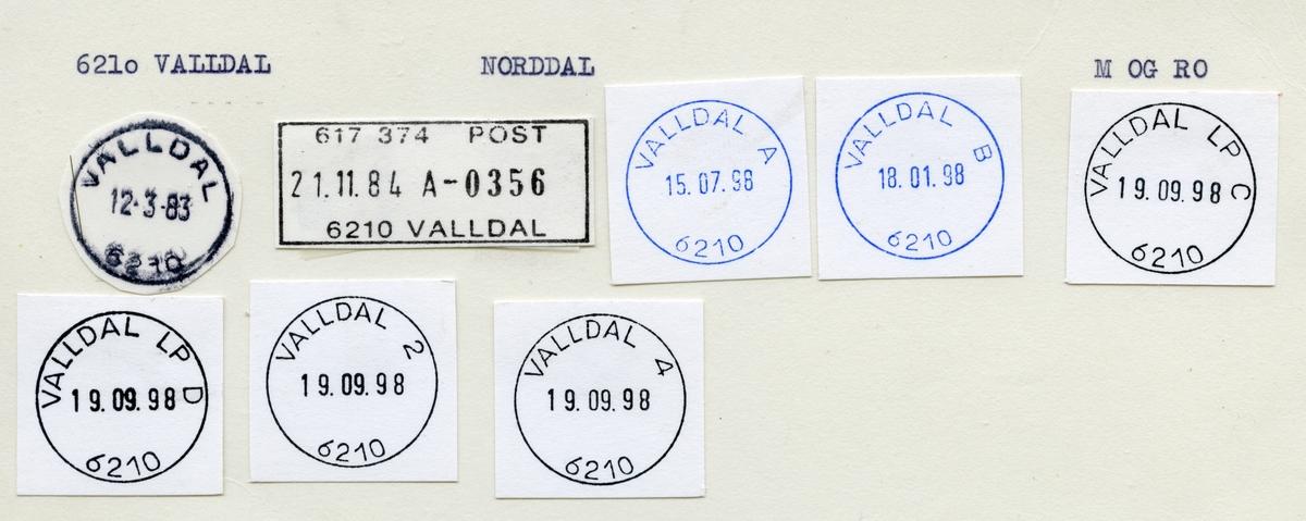 Stempelkatalog 6210 Valldal (Valdalen, Valdal), Norddal, Møre og Romsdal