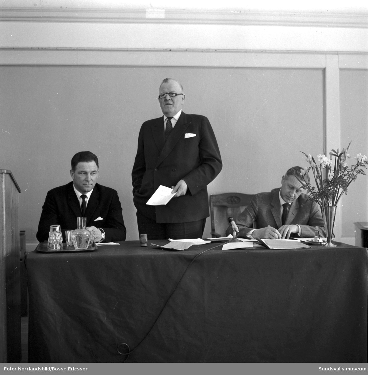 SMC, Sundsvalls Mjölkcentral, håller årsstämma på W6 1966.