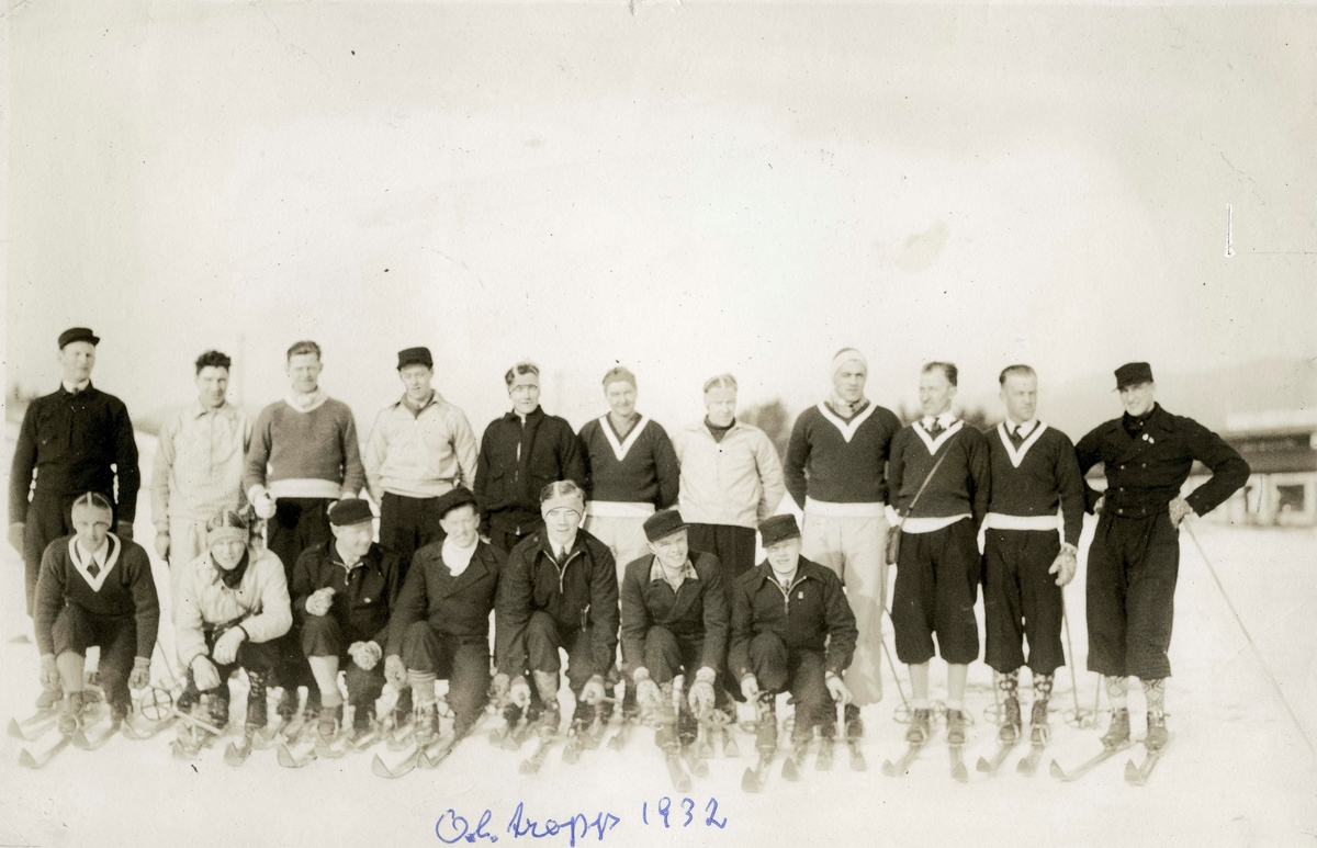 The Norwegian team for OG in Lake Placid 1932