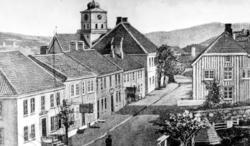 Repro fra Parkveien på Kirkelandet i Kristiansund rundt 1866
