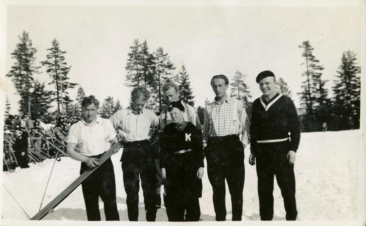Kongsberg skiers at the Hannibal ski jump