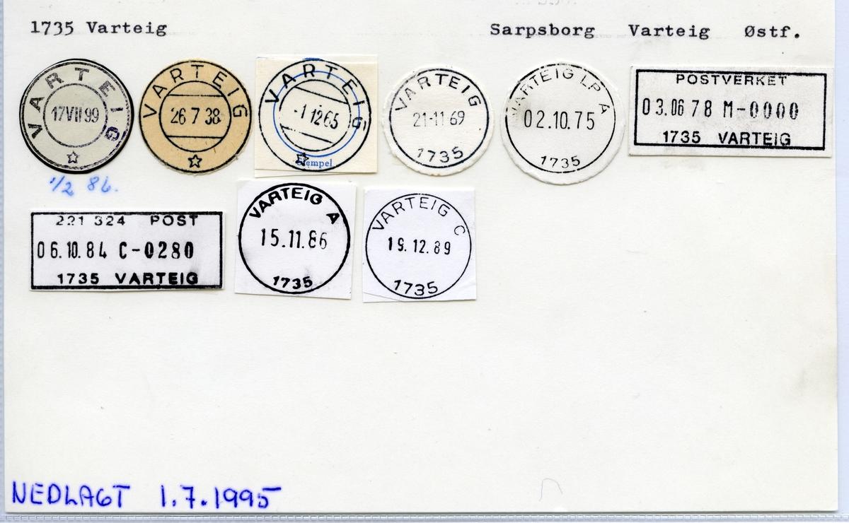 1735 Varteig, Sarpsborg, Varteig, Østfold