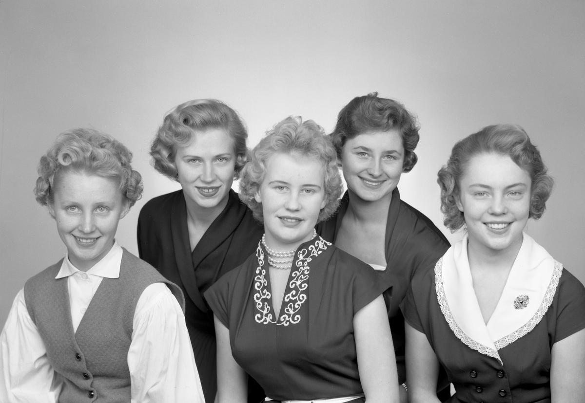 1955-års luciakandidater från Arvika.
