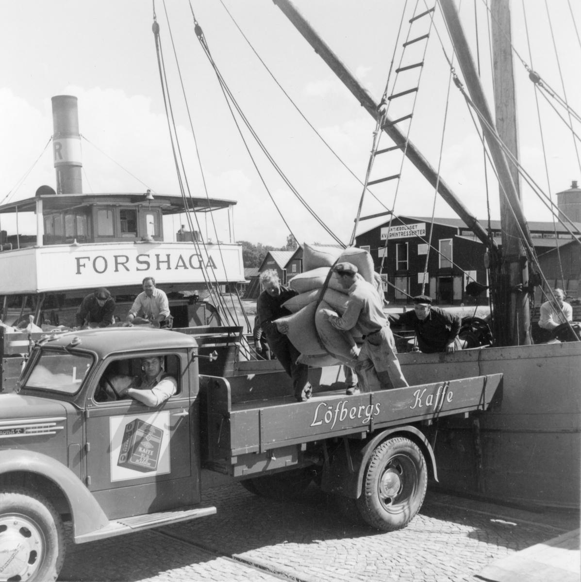 Bild från Löfbergs kafferosteri tagen 1960