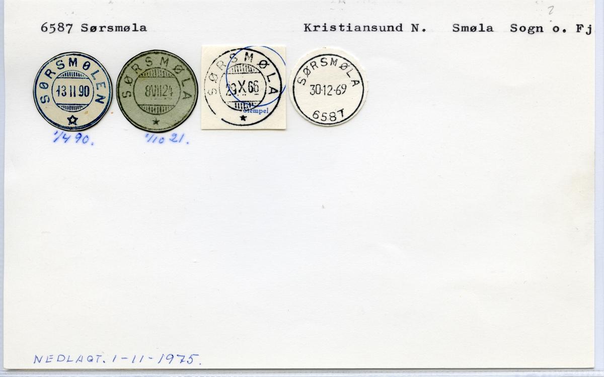 Stempelkatalog  6587 Sørsmøla, Smøla kommune, Sogn og Fjordane