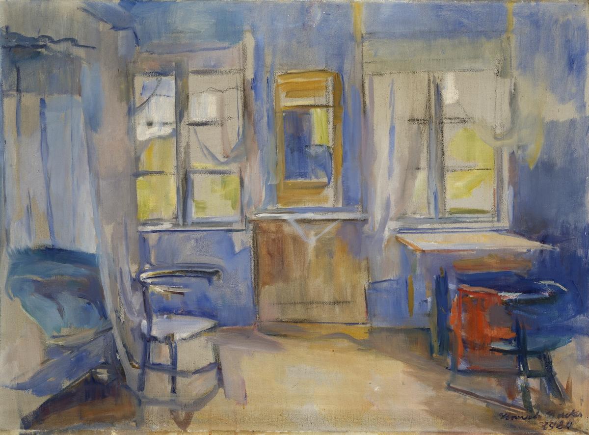 Interiør fra Einabu i Foldal [Maleri]