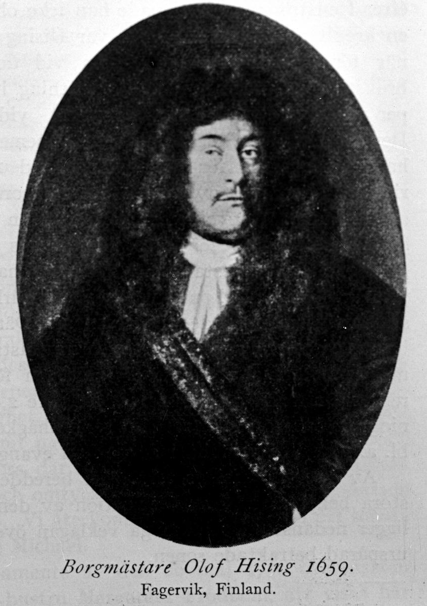 Olof Hising, 1659. Reproduktion av K J Österberg.