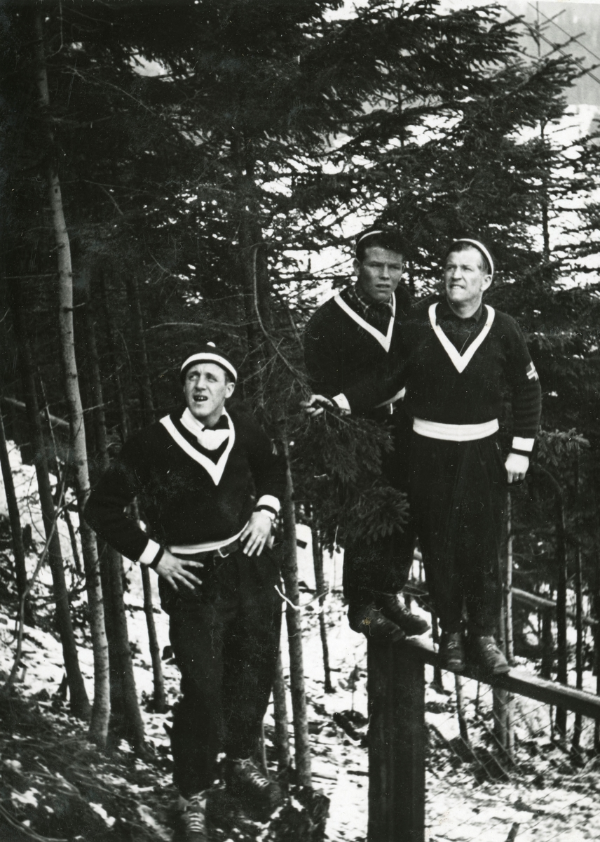 Norwegian athletes waiting for the result