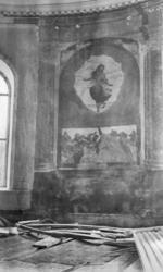 Foto på en fresk/altartavla. Kristi himmelsfärd, trol. fr. 1